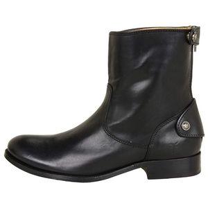 FRYE Melissa zip back button short boots
